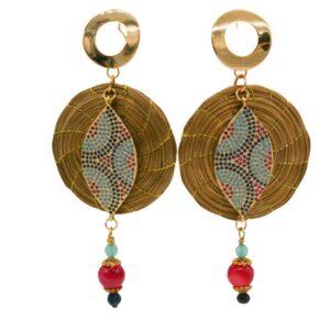 Gaudi orecchini mosaico buganvillea jpg